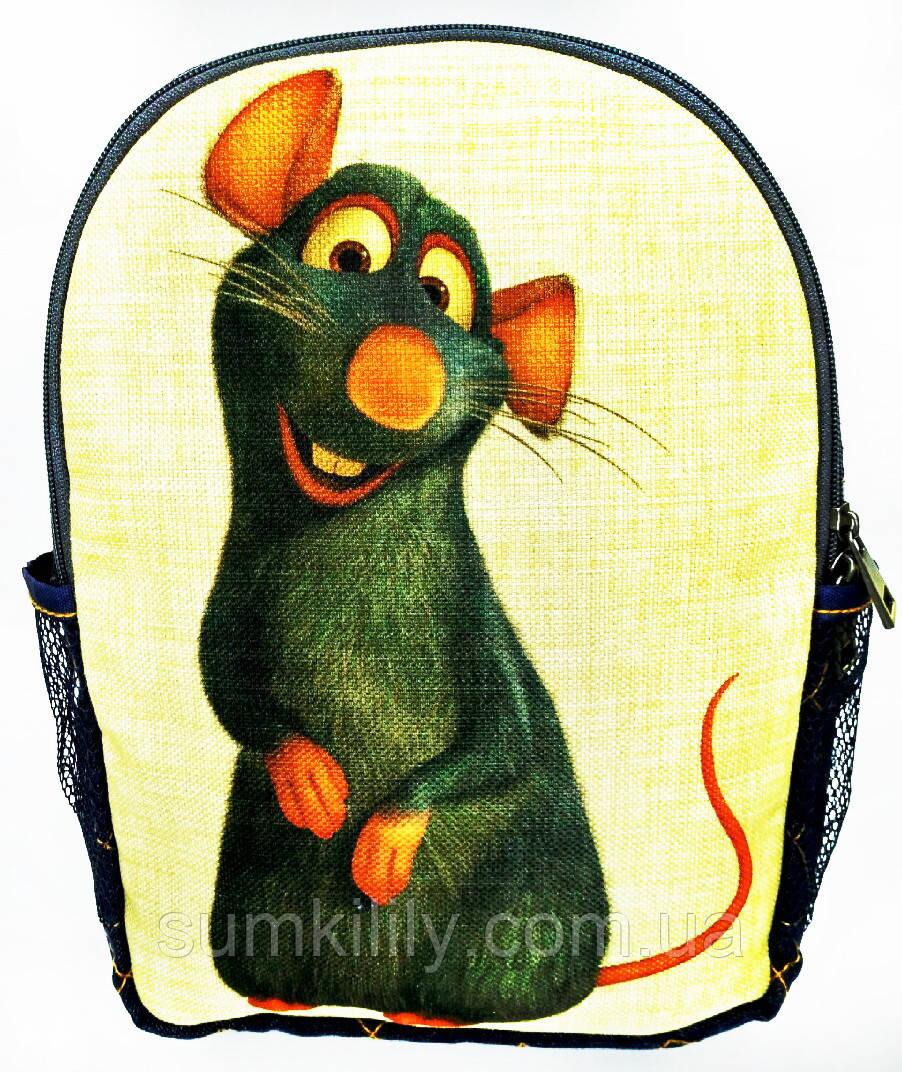 Джинсовый рюкзак Рататуй 2