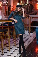 Модное женское платье, ткань ангора травка