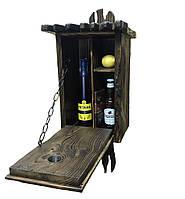 Тайник для алкоголя в форме скворечника. Мини бар из дерева скворечник (wd-001)