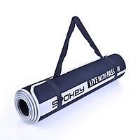 Коврик для йоги и фитнеса Spokey Flexmat V двусторонний 180х60 см Черный