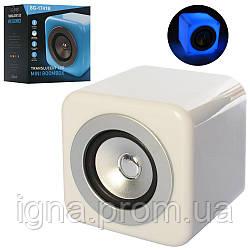Колонка SG-1741B (24шт) 12-12-12см, аккум,bluetooth,MP3,6режимов света, USBзарядн, в кор, 16-17-15см