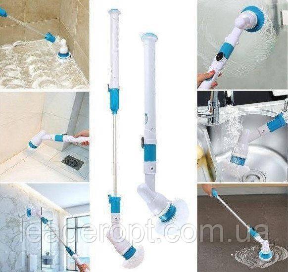 [ОПТ] Беспроводная электрическая щетка для уборки Spin Scrubber с насадками для влажной уборки