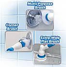 [ОПТ] Беспроводная электрическая щетка для уборки Spin Scrubber с насадками для влажной уборки, фото 6