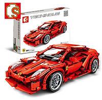 """Конструктор Sembo 701501 """"Ferrari FRR-458"""", 603 дет"""