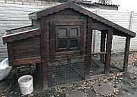 Деревянный курятник уличный. Домик (дом) для курей, гусей, уток. Птичник (wd-002)