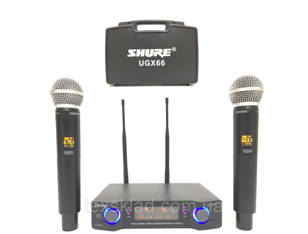 Бездротові мікрофони для караоке SHURE UGX66 з кейсом