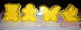 Плунжер  Мишка, Бабочка, Птичка, Пряничный человечек 4шт (кнопка), фото 3