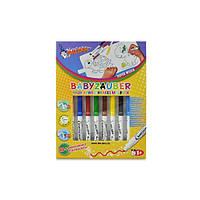 Фломастеры смываемые для малышей Malinos Babyzauber 10 шт с раскраской (MA-300015)