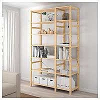 IKEA IVAR Стеллаж, сосна, 134x50x226 см (292.483.45), фото 1