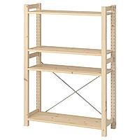 IKEA IVAR Стеллаж, сосна, 89х30х124 см (893.097.22), фото 1