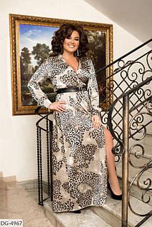 Платье принт  леопард