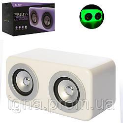 Колонка SG-1741 (20шт) 25-12см, аккум, bluetooth, MP3, 2режима света, USBзарядн,в кор-ке, 29-17-15см