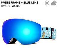 Горнолыжные / сноубордические очки (маска) для детей и подростков COPOZZ GOG-2913 UV400, antifog, фото 1