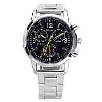 Кварцевые часы мужские с металлическим ремешком