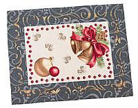 Салфетка-подкладка под тарелку гобеленовая новогодняя 37 х 49 см
