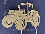 Топпер трактор , Топпер золотой трактор на торт, фото 2