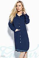 Удлиненное платье-рубашка Gepur 20455