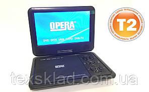 """Портативний ДВД плеєр з цыфровим T2 тюнером Opera NS-998 (9,5""""/USB/ТБ/T2)"""