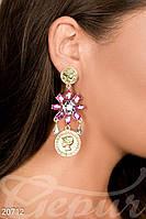 Яркие серьги-цветы Gepur 20712