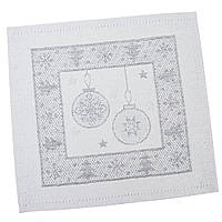 Салфетка-подкладка под тарелку новогодняя жаккардовая 17 х 18 см