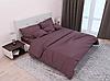 Комплект постельного белья СТРАЙП-САТИН темно-шоколадный