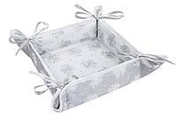 Хлебница новогодняя тканевая квадратная 20х20 хлібничка новорічна різдвяна