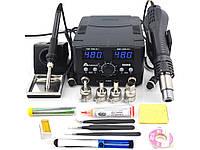 Паяльная станция цифровая с феном для телефона PCB IC SMD BGA 2 В 1 800 Вт 8588D