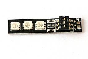 Светодиодный модуль RGB 3x5050 для лучей мультикотеров (12В)