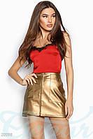 Кожаная юбка-мини Gepur 20098