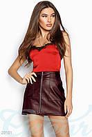 Кожаная юбка-мини Gepur 20101