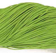 Шнур Вощеный Полиэстер, подходит для плетения браслетов, Цвет: Зеленый, Размер: Диаметр 1мм, около 80м/связка, (УТ0003527)