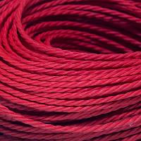 Шнур Вощеный Полиэстер, подходит для плетения браслетов, Цвет: Красный, Размер: Диаметр 1мм, около 80м/связка, (УТ0002671)