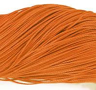 Шнур Вощеный Полиэстер, подходит для плетения браслетов, Цвет: Оранжевый, Размер: Диаметр 1мм, около 80м/связка, (УТ0003490)