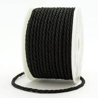 Шнур Плетеный Лавсан, Цвет: Черный, Размер: Диаметр 3мм, около 18м/связка, (УТ000007002)