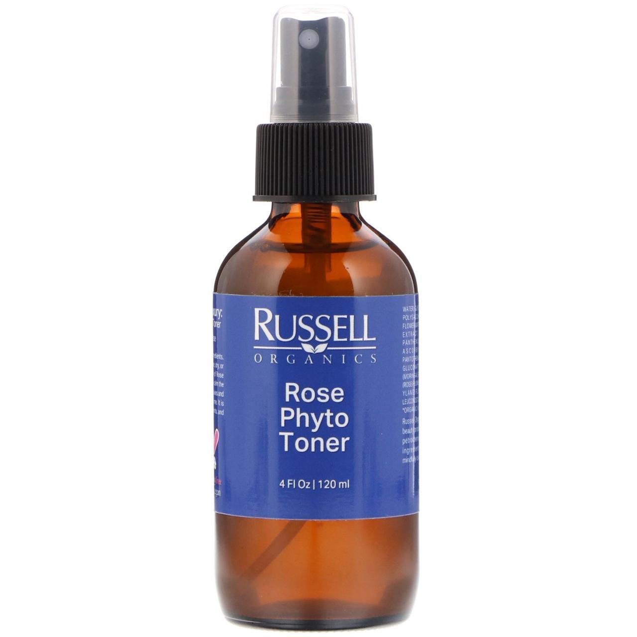 Russell Organics, Rose Phyto Toner, 4 fl oz (120 ml)