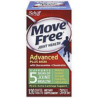 Schiff, Move Free, здоровье суставов,  глюкозамин и  хондроитин плюс МСМ, 120 таблеток, покрытых оболочкой