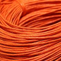 Шнур Вощеный Хлопковый, Цвет: Оранжевый, Размер: Толщина 1.5мм, около 80м/связка, (УТ000003952)
