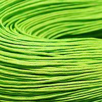 Шнур Вощеный Хлопковый, Цвет: Желто-зеленый, Размер: Толщина 1мм, около 80м/связка, (УТ000003374)