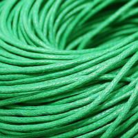Шнур Вощеный Хлопковый, Цвет: Зеленый, Размер: Толщина 1.5мм, около 80м/связка, (УТ000004434)