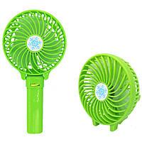Портативный настольный вентилятор Handy Mini Fan со съемным аккумулятором Зеленый