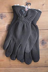Мужские стрейчевые перчатки кролик большие 8192s3