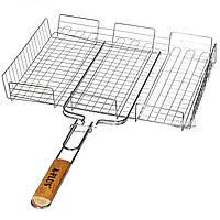 Решетка для гриля и барбекю А-Плюс 1895 большая 40x32x7.5см