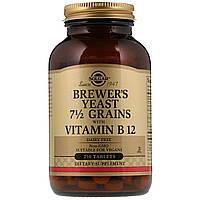 Пивные дрожжи с витамином B12, Brewer's Yeast, Solgar, 250 таб.