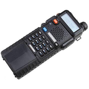 Рація Baofeng UV-5R Black + Посилений акумулятор BL-5L 3800 маг Black