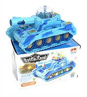 Музыкальная развивающая игрушка танк 86-112 батар, Музыкальная  , свет, в кор 18*10*10см