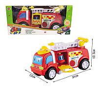 Музыкальная развивающая игрушка машина 969-K11 пожарная,свет,звук в коробке 15*35*15см