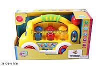 Музыкальная развивающая игрушка разв грузовик 7070 батар ,свет ,в кор 35*20*15см