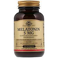 Мелатонин, Melatonin, Solgar, 5 мг, 120 жевательных таблеток