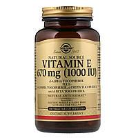 Витамин Е, Vitamin E, Solgar, 1000 МЕ, 100 капсул