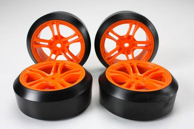 Team Magic E4D Mounted Drift Tire 45 Degree 5 Spoke Orange 4p, фото 2